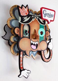 Alex Yanes. Artista tridimensional - Nakedtruth Avestruz
