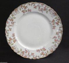 """Haviland Limoges Trellis Dinner Plates 10 1/4""""  Discontinued White Floral  #HavilandLimoges"""