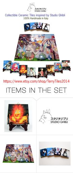 """Studio Ghibli Collectible Tiles by TerryTiles2014"" by terrytiles2014 on Polyvore featuring arte"