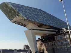 Havenhuis (Port building) Antwerp Belgium via Classy Bro Zaha Hadid Architecture, Futuristic Architecture, Facade Architecture, Amazing Architecture, Urban Design, Modern Design, Antwerp Belgium, Modern Architects, Building Facade