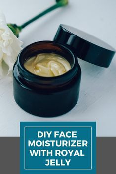 After lots of research and experiments I have come up with my own DIY Face Moisturizer with Royal Jelly a similar version of the famous Egyptian magic cream with jojoba o. Homemade Eye Cream, Face Scrub Homemade, Face Cream For Wrinkles, Face Creams, Wrinkle Creams, Anti Wrinkle, Natural Face Cream, Royal Jelly, Moisturizer For Oily Skin
