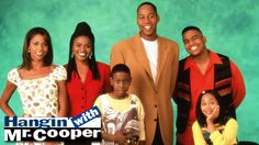 """Hangin' with Mr. Cooper originally aired on ABC from 1992 to 1997, starring Mark Curry and Holly Robinson. The series centers on NBA player-turned-substitute teacher/gym coach (and later basketball coach) Mark Cooper. Mark is a """"somewhat suave"""" single guy with a zany personality. Mark's childhood friend Robin Dumars (Dawnn Lewis) and Robin's other best friend Vanessa Russell (Holly Robinson) live with him."""