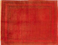 Orange Teppich By Kiskan Process, Modern, Orientteppich, Gefärbter ... Wohnzimmer Modern Vintage
