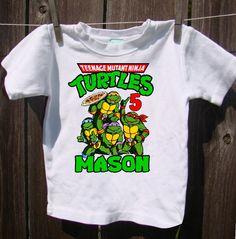 Ninja Turtle Boys Birthday Shirt by AimToPleaseCreations on Etsy, $13.49