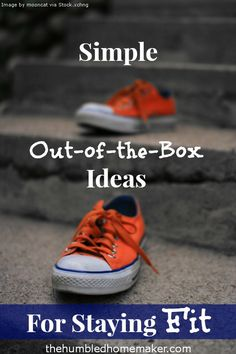 Great, unique ideas for staying fit and fitting in exercise!!