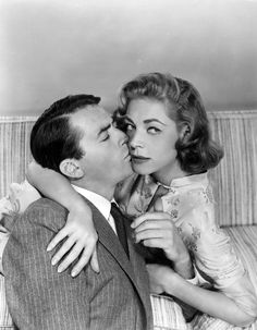 Gregory Peck and Lauren Bacall in a publicity still for DESIGNING WOMAN (1957)