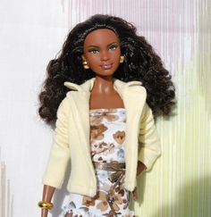 Yellow jacket for Barbie - pattern and instructions
