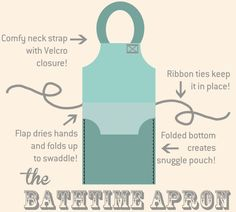 instructions to make a great idea to use for a baby or small animal bath time Bath Towel Apron | AllFreeSewing.com