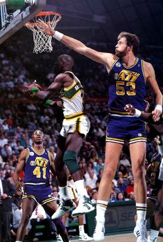 Mark Eaton, Xavier McDaniel, and Thurl Bailey Xavier Basketball, Indoor Basketball Court, Basketball Legends, Basketball Uniforms, Football And Basketball, Basketball Sneakers, Basketball Players, Basketball Pictures, Sports Pictures