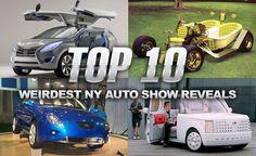 Top 10 Weirdest Reveals from Past New York Auto Shows  #calgary #car