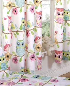 Owl Curtains measuring 66 x 72 inch, from our Owl and Friends Range