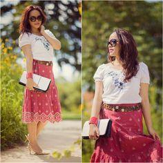 Skirt, Shirt, Bag, Belt
