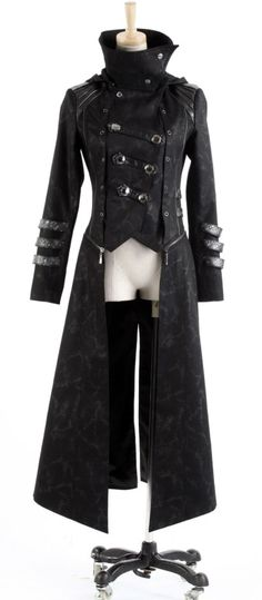 Acute (zip off) Womens Coat Y-364 van Punk Rave - Bizzare - Be azz you are, Be Bizzare