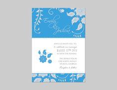 Wedding invitation by cindyhamiltondesign on Etsy, $15.00