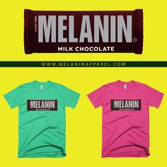 """""""Melanin Milk"""" t-shirt, tank, and hoodies available now. Please visit www.melaninapparel.com  Black Pride T-shirts and more."""