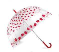 Vision Clear Dome Umbrella - Roses