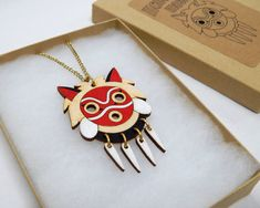 Mononoke Mask necklace от ObakeStyle на Etsy