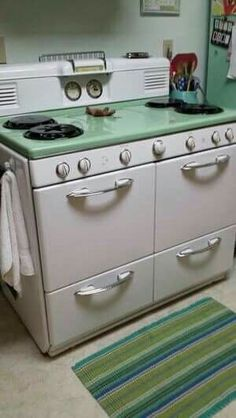 New Kitchen Vintage Retro Antique Stove 39 Ideas Vintage Kitchen Appliances, Kitchen Stove, Old Kitchen, Kitchen Items, Kitchen Decor, Slate Appliances, Bosch Appliances, Retro Kitchens, Green Kitchen
