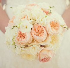 Pastel peonies and pink and white roses