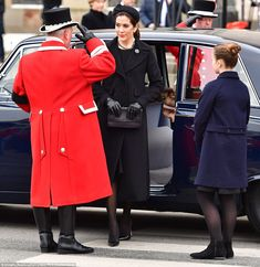 Mary was dressed in all-black as she arrived at the funeral of Prince Henrik in Copenhagen...