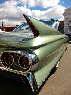 The 1961 Cadillac was a redesigned automobile and presented a newer variation of the fins and chrome theme. Chevrolet Corvette, Corvette Cabrio, 1957 Chevrolet, Chevrolet Trucks, Retro Cars, Vintage Cars, 1960s Cars, Antique Cars, Carl Benz