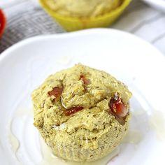Strawberry Cornbread Muffins