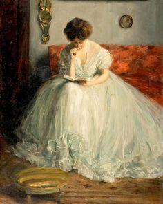 """""""Portrait de Lucie lisant un livre"""" by Jacques-Emile Blanche, ca. 1891"""