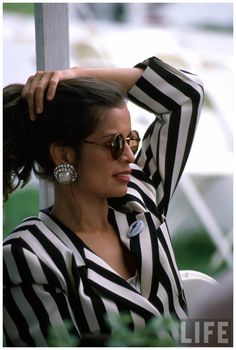 Bianca Jagger, Stripes, Style Icon, Fashion