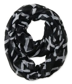 Corciova® Soft Printed Infinity Scarf (Black with White Cross)