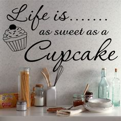 "Tattoo Ideas & Inspiration - Quotes & Sayings | ""Life is as sweet as a cupcake"""