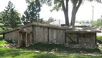 VikingHjem in Elk Horn, Iowa,  a recreation of a 10th century Scandinavian smithy's home.