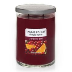 A favorite!!  Love it!  Yankee Candle simply home 19-oz. Cranberry Zest Jar Candle