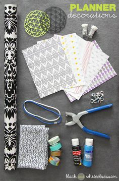 Black and White Obsession | Organize your DIY Planner. How to make Covers, Tabs  Dividers using Food Boxes (like Cereal boxes, Pizza boxes, TV Dinners etc.) | Additional ways to make your planner 'you.'