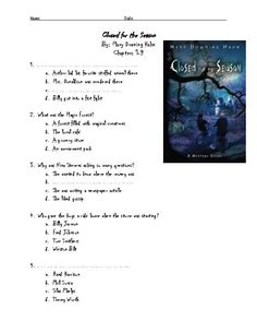 Reading Quizzes for Closed for the Season by Mary Downing Hahn designed to test students on basic comprehension. Three quizzes each covering between 6-9 chapters each. All questions are multiple choice.  Quizzes are designed to assess students over chunks of the novel, but may also be given as an end of book test. Designed for the resource room with Special Education students in mind. ANSWER KEY included