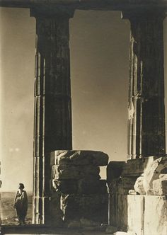 """""""Then Julian left his successors, none aware of the future. If the gods exist, they are kind. Despite oracles and flashes of lightning, they tell us nothing. If they did, we could not bear it."""" __Gore Visal, Julian  [Credit - Isadora Duncan at the Parthenon, 1921, photo by Edward Steichen.]"""
