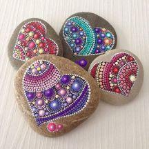 Valentine Painted Rocks 38