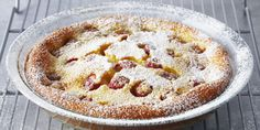 Raspberry Clafoutis by Anna Olson and yes!  It's gluten free!!