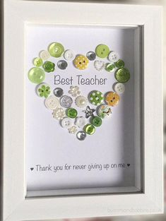 Best Teacher Personalised Picture - End of Term Gift for Teachers, Teaching Assistant / School Staff / Thanks / Colleague / Leaving School Teachers Day Gifts, Presents For Teachers, Teacher Gifts, Craft Gifts, Diy Gifts, Goodbye Gifts, Leaving Gifts, Teacher Cards, Gift Quotes