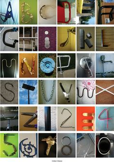 AZ The Alphabet Project  Things That Look Like Letters