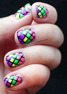 Nails4Dummies - Stained Glass Nails - http://yournailart.com/nails4dummies-stained-glass-nails/ - #nails #nail_art #nails_design #nail_ ideas #nail_polish #ideas #beauty #cute #love