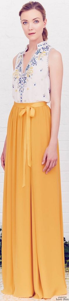 Jenny Packham Resort 2016. Now, I do quite like the relaxed, almost Bohemian vibe of this ensemble. It would be the perfect outfit for a summer BBQ or a friend's birthday.