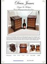Load image into Gallery viewer, Pair of Miniature Mahogany Chest of Drawers Wood Drawers, Chest Of Drawers, Drawer Dividers, Shoe Rack, Miniatures, Pairs, Antiques, Gallery, Image