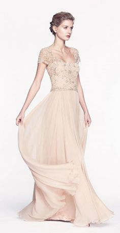 Reem Acra fall 2013. Can I get married in a white version of this?!?!!