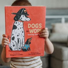 Have you ever wondered what dogs do all day when their people leave for school or their jobs? What if THEY went to work, too? This clever picture book describes all the real jobs that dogs do. From a therapy dog to a mayor dog and even a lobster-diving dog, the possibilities will surprise you! 📸 @thebookscript National Book Store, What Dogs, People Leave, One Job, Therapy Dogs, Early Literacy, Working Dogs, Going To Work, Book Worms