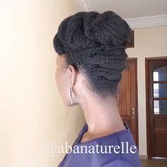 Such a cute updo Natural hair updo, Cute, Updo Protective Hairstyles For Natural Hair, Natural Hair Braids, Natural Afro Hairstyles, Dreadlock Hairstyles, Cute Updo, Natural Hair Tutorials, Pelo Afro, Twist Braid Hairstyles, Natural Hair Styles For Black Women
