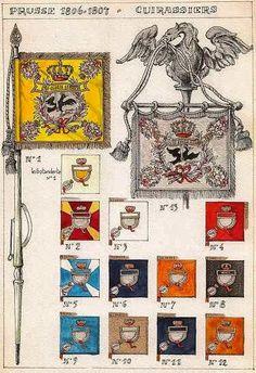 Bandiere dei rgt. corazzieri prussiani