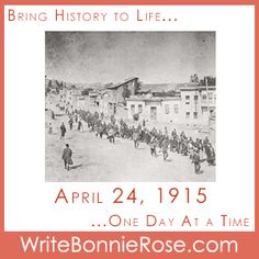"""FREE Timeline Worksheet: April 24, 1915: Today is the day set aside to remember the Armenian victims of the genocide that occurred as a result of the Ottoman Empire's actions against the Armenian people in 1915, during World War I. The story, """"Helping Hearts,"""" follows Camilla as she tries to understand why her father, who is in the military, cannot be home for her birthday. - WriteBonnieRose.com Short Stories For Kids, Yesterday And Today, World War I, Writing Tips, Lesson Plans, How To Plan, History, Life, Armenian People"""