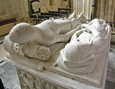 Chichester Cathedral The Countess of Arundel turns towards her husband, Richard Fizalan (the 13th Earl who died in 1376) and holds his hand - a rarely found tomb expression of medieval knightly bonding