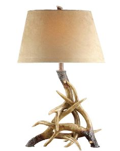 Antler Table Lamp from southern|ELEVATION