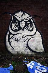 IMG_031926 (In this twilight...) Tags: england streetart graffiti unitedkingdom owl stokeontrent staffordshire hanley mrchans owlgraffiti
